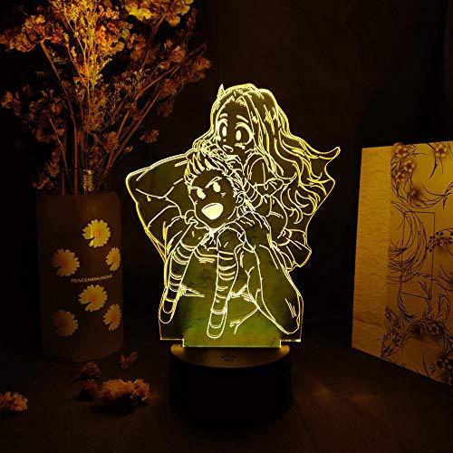 Luce Notturna A Led Illusione 3D Belle Lemillion Mirio Eri Boku No My Hero Academia Figures Lampada Da Tavolo Anime Lati Del Letto Decorazione Domestica Manga Art Decor