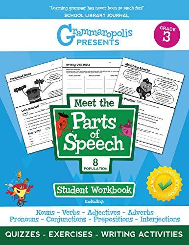 The Parts of Speech Workbook, Grade 3 (Grammaropolis Grammar Workbooks)