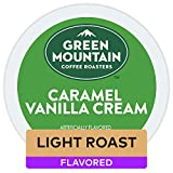 Green Mountain Coffee Roasters Caramel Vanilla Cream, Single-Serve Keurig K-Cup Pods, Flavored Light Roast Coffee, 32 Count