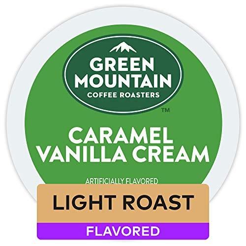 Green Mountain Coffee Caramel Vanilla Cream Keurig Single-Serve Light Roast Coffee K-Cup Pods, 32 Count
