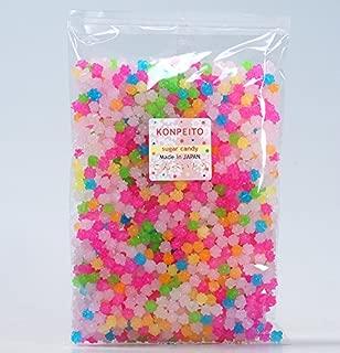 Konpeito Japanese Tiny Sugar Candy Crystal 100g (Rainbow Big bag 500g)
