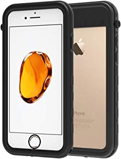 iPhone 7/8 Waterproof Case, AIUERU Shockproof case for iPhone 7/8 4.7 inch with IP68 Waterproof Function with Built-in Screen Protector (Black)