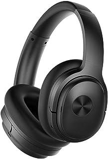 ヘッドバンドヘッドフォン アクティブノイズリダクションワイヤレスヘッドセットのコンピュータ、携帯電話のBluetoothヘッドセットスポーツ マイク付きワイヤレスヘッドフォン (Color : Black)