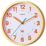 ランデックス(Landex) 掛け時計 アナログ 連続秒針 22.5cm ソフティーナ オレンジ YW9139OR