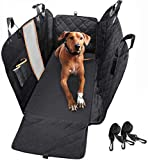 Dog Car Seat Cover, Waterproof Anti-Scratch with Mesh Window, Nonslip Back Seat Pet