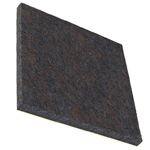 4 x Premium Filzgleiter | 80x80 mm | quadratisch | braun | selbstklebend | Möbelgeleiter in Premium-Qualität (5.5 mm)