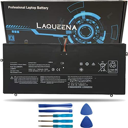 Laqueena L12M4P21 Laptop Replacement Battery for Lenovo Yoga 2 Pro 13 Series L13S4P21 121500156 21CP5/57/128-2 7.4V 54WH/7400MAH 8-Cell