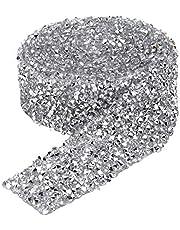 150cm/180cm strass ketting, sprankelende lijm terug kristal decoratieve banding riem 3cm breedte strass trimmen lint diy handwerk naaien ambachtelijke accessoires accessoires(150cm)