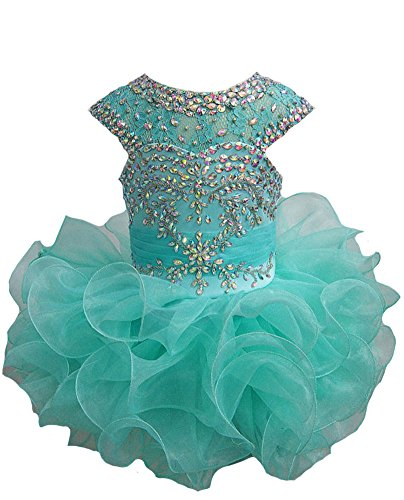 ChengCheng Toddlers Girls Custom Made Pageant Cupcake Dress 1 US Mint