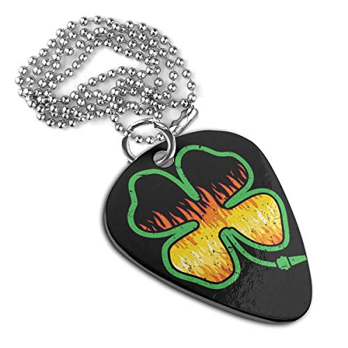 seaEagle Firefighter Shamrock Pet Tag Stainless Steel Guitar Pick Necklace Pendant