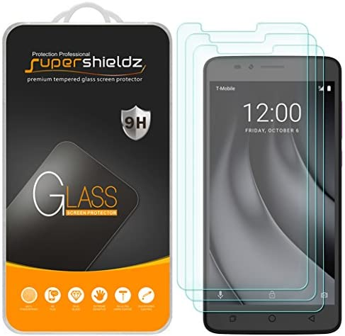 (3 Pack) Supershieldz Designed for T-Mobile (Revvl Plus) Tempered Glass Screen Protector, Anti Scratch, Bubble Free