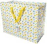 Happy Planet Giftshop Large Jumbo Storage Bag with Zip 58 x 47 x 30cm 80l (Summer Flowers Design) (Single - Multipacks Available)