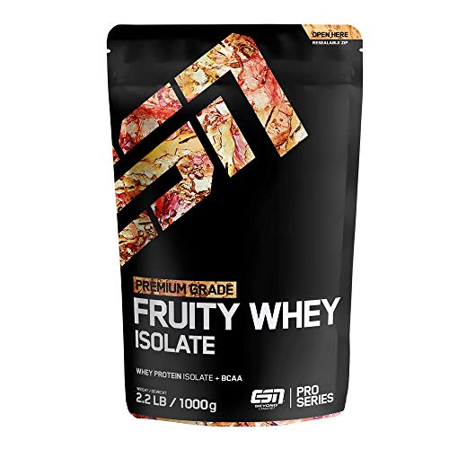 ESN Fruity Whey Isolate – 1000g – Fresh Orange – Fruchtiges Proteinpulver reich an EAAs und BCAAs – praktisch laktose- & fettfrei – 33 Portionen