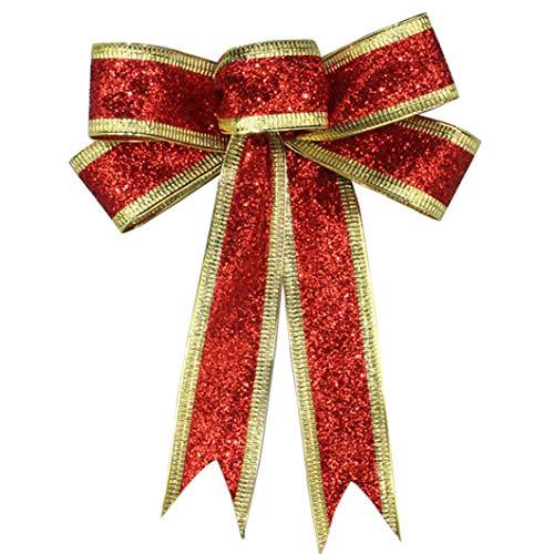 SJHFG Cinta de Navidad Arco Hecho a Mano Ornamento Festival Decoración Árbol de Navidad Regalo Accesorios de Envoltura de Regalo,...