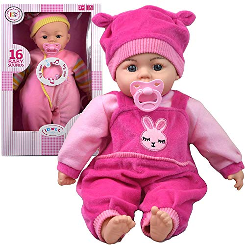 18 Inch New Born Soft Bodied Baby Doll Toy with Dummy Baby Sounds Crying Talking Baby Sounds & Gift Box