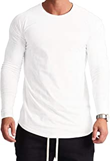 Magiftbox Mens Lightweight Cotton Workout Long Sleeve T-Shirts Essential Training Tee T23