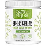 Super Greens Powder Organic Blend: Non-GMO Supplement, Includes Spirulina,...