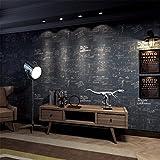 H&M Tapete retro persönlichkeit tafel Englisch buchstaben umweltschutz PVC tapete dekoration studie bar cafe restaurant hochwertige tapete-53 cm (W) * 10 m (L) -3 farbe optional ,B