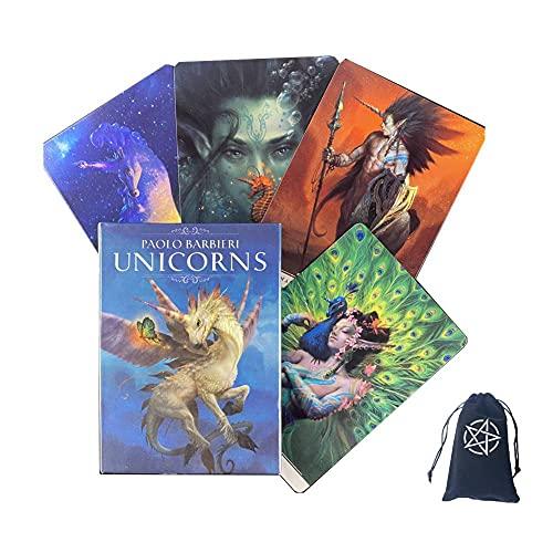 Taritas de Tarot de Paolo Barbieri Unicorns,Paolo Barbieri Unicorns Tarot Cards,with Bag,Standard