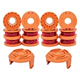 WA0010 Trimmers Spool Line 10ft 0.065',Replacement for Worx Trimmer/Edger Weed Eater WG180 WG163,with WA6531 Spool Cap Covers (12 Line Spools+2 Cap)