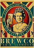 nishangyuyi Carteles Impresos Pintura De Pared Interesante Colección De Cerveza Y Vino Arte De Pared Lienzo Pintura Cuadros Decoración del Hogar Mural Cartel Sin Marco A193 40X50Cm