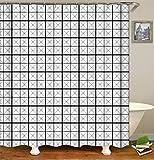 SLN Schwarzes Graues Quadrat. Duschvorhang. 180 X 180 cm. 12 C-Förmige Haken. Einfach Zu Säubern. Wasserdicht. Nicht Verblassen. Haus Dekoration.