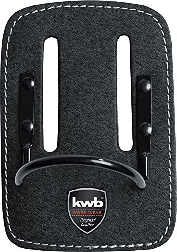 kwb Hammerhalter 906010 (aus Leder, mit festem Bügel aus Metall, am Gürtel tragbar mit Gurtschlitzen)
