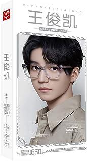 Hongdong 王俊凯 人気 写真集 ギフトボック スコレクションポストカードセット 写真 ステッカー 収納ボックス人気カードセットギフト(30枚はがき+30枚小さなカード+1600枚ステッカー)