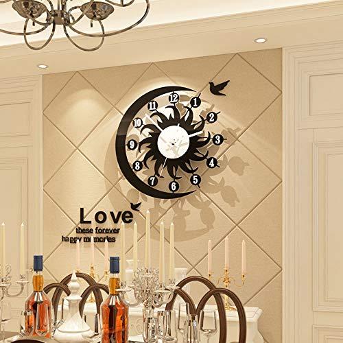 Reloj de pared – Acrílico/Metal Puntero/Personalidad/Home/Reloj, Moda Reloj de pared Salón Dormitorio Creative Reloj de pared Reloj de pared (48 x 47 cm) Mereces tener