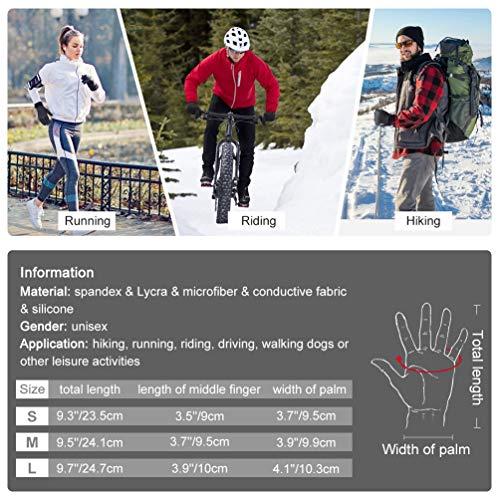 VBIGER Handschuhe Herren Winterhandschuhe Damen Winter Warme Fleece Innenfutter Touchscreen Handschuhe für Sport Outdoor Motorrad Laufen Radfahren Mountainbike… - 2