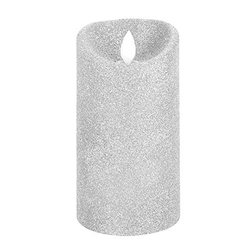 SALALIS Flameless Lighting Gold Powder LED Candle for Your Friends for Parties Weddings(white)