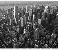 壁画壁写真写真3Dモダンな都市の黒と白のスタイル-280x200CM