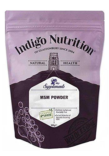 Indigo Herbs MSM Powder 500g | Methylsulfonylmethane | No Additives | Vegan | GMO-Free