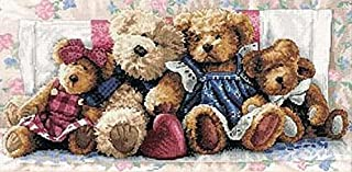Dimensions Gold Collection Counted Cross Stitch Kit, A Row of Love, 14 Count White Aida, 18'' x 9''