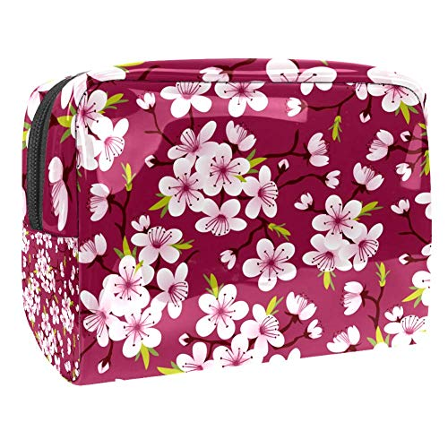 Trousse de toilette multifonction pour femme - Fleurs de cerisier et fleur de Sakura