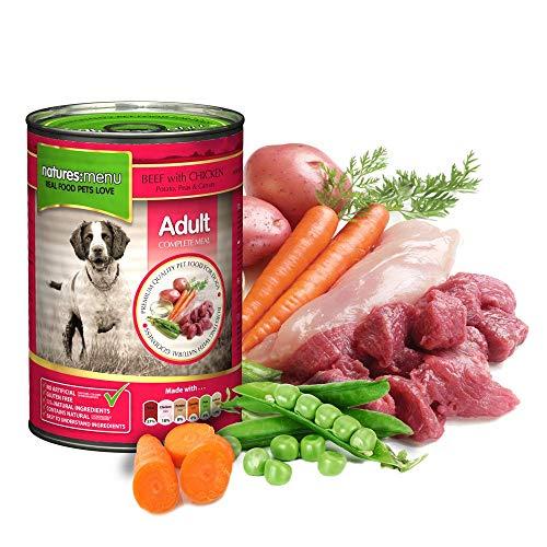 Natures Menu Latas de Carne y Pollo para Perros 12 x 400 g