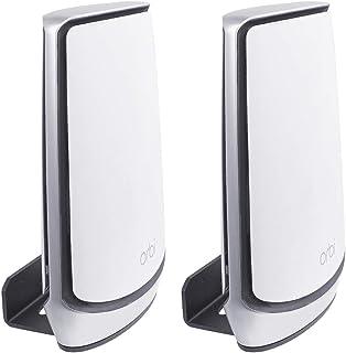 Huafly Wall Mount Hanger Stand for Orbi Tri-Band Mesh System, Wall Bracket Holder for Orbi WiFi 6 Router, (RBK850)(RBK85...