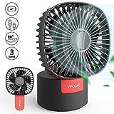 VPCOK USB Fan 2 in 1 Handheld Fan Mini Desk Fan, 180° Foldable