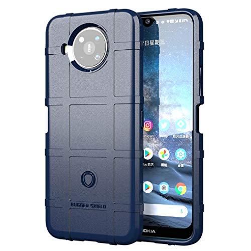 Liner Hülle für Nokia 8.3 5G, [Fallschutz, rutschfest] Mattierte TPU Ultra-dünne Stylische Schutzhülle, Hochwertiges Weiche Silikon Stoßfest Handyhülle für Nokia 8.3 5G - Blau