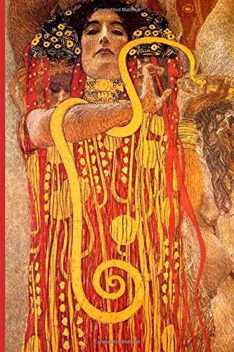 InspirationzStore Notebooks: Woman & Gold Snake - Hygieia Medicine Art by Gustav Klimt Internet Password Book Organizer A5 Notebook Logbook website login details keeper Online Accounts manager