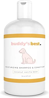 Buddy's Best Natural Dog Shampoo and Conditioner for Sensitive Skin - Two in One Dog Shampoo - Organic Shampoo and Conditioner - Natural Dog Shampoo - Dog Detangling Conditioner - 16oz and 32oz
