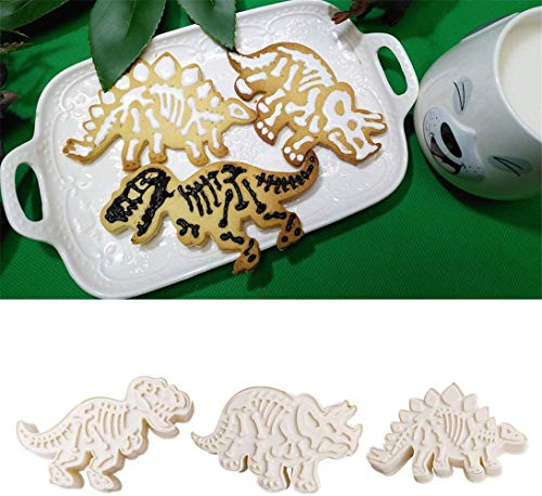 Biscuit Dinosaure Mold 3 Piece Set Jurassic Dinosaur Fossil Seal Parc Mold Biscuit,a