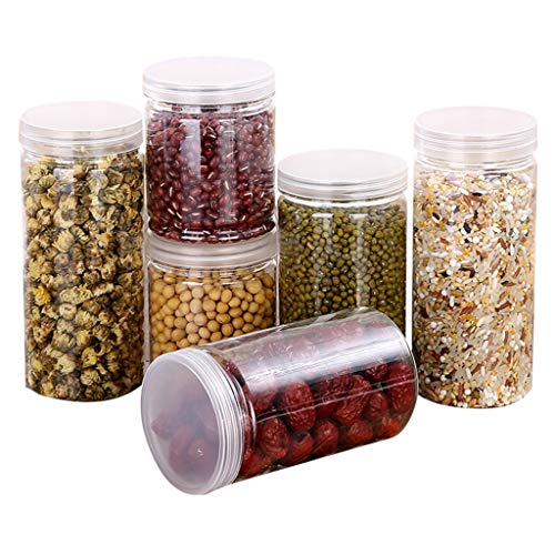 Sandistore Food Storage Containers - Sugar, Flour Plastic Containers -Best Airtight Kitchen & Pantry Bulk Food Storage- BPA Free - Freezer & Dishwasher Safe (ABCD)