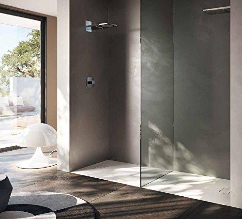 Piatto doccia 80x120 1°scelta rettangolare in resina termoformata effetto pietra