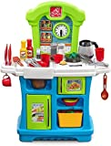 Step2 Little Cooks Kitchen Spielküche | Spielzeugküche für Kinder mit 21 teiligem Zubehör Set inkl. u.a. Geschirr & Töpfe | Kinderküche aus Kunststoff / Plastik