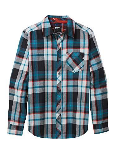 Marmot Herren Langärmeliges Outdoor-Hemd, Wander-Shirt Mit Uv-Schutz, Atmungsaktiv Anderson Lightweight Flannel, Black, M, 44520