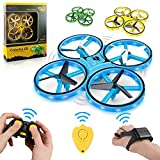 Two controllers included: Traditional handheld RC and Hi Tech wristband controller. Infrared obstacle avoidance (Anti-Collision), Altitude Hover, Throw-and-go, Circle Fly, Emergency Stop, High-speed Rotation, One Key Return, Headless Mode, One key Ta...