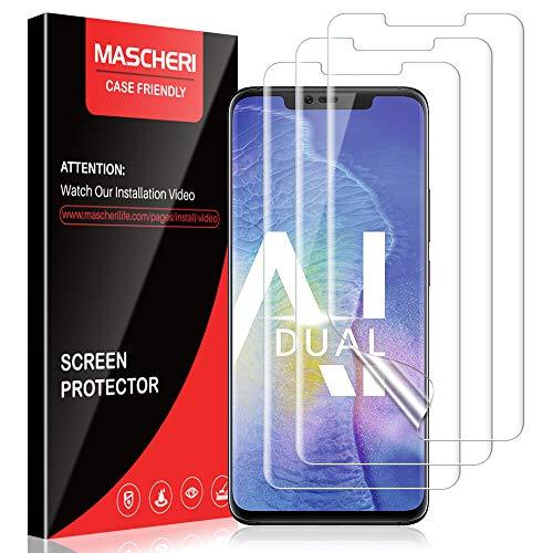 MASCHERI Schutzfolie Für Huawei Mate 20 Pro, [3 Stück] [TPU-Folie] [kein Glas] HD Soft Bildschirmschutz Bildschirmschutzfolie Bildschirm Folie Für Huawei Mate 20 Pro - klar