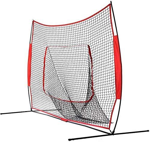 Red de Entrenamiento de béisbol y softbol Práctica de béisbol Red 7x7 pies plegable práctica de béisbol neto portátiles ligeros softball neto será rebotar la pelota como un trampolín for todos los niv