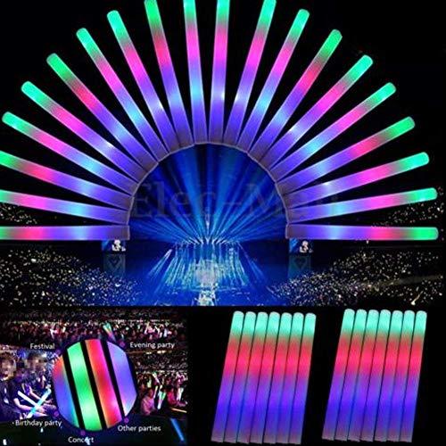 Palo Espuma LED,LED foam stick,La espuma multicolora del LED 36PCS enciende para arriba la varita cambiante de la,acontecimientos que se divierten Varitas suaves del bastón del resplandor para los(36)